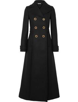 Double Breasted Wool Felt Coat by Miu Miu