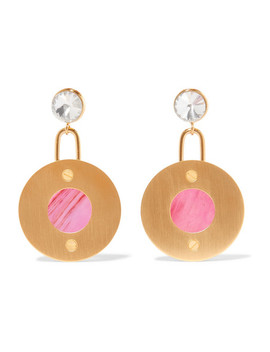 gold-tone,-resin-and-crystal-earrings by marni