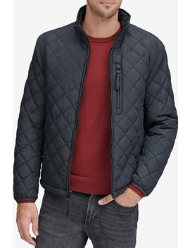 Fillmore Faux Shearling Lined Diamond Quilted Jacket by Andrew Marc