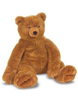 "Teddy Bear Giant Huge 50"" Cotton Stuffed Plush Big Soft Brown Animal Large Gift by Melissa & Doug"