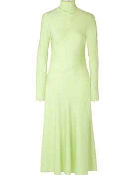Welecio Silk Blend Turtleneck Midi Dress by By Malene Birger