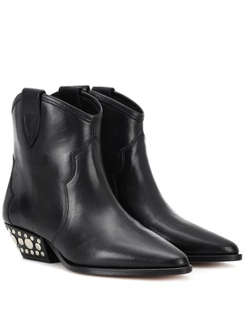 Dawnya Studded Leather Ankle Boots by Isabel Marant