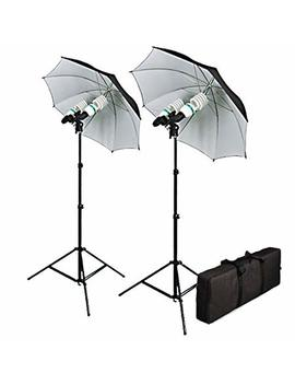 Cowboystudio 1200 Watt Photography, Video, And Portrait Studio Umbrella Continuous Lighting Kit by Cowboy Studio