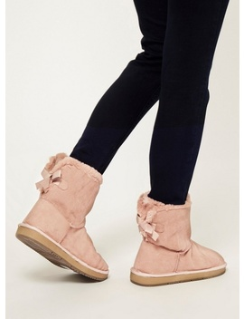 Blush Microfibre 'molly' Fur Boots by Dorothy Perkins