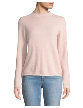 Cashmere Mock Neck Sweater, Pink by Neiman Marcus Cashmere Collection