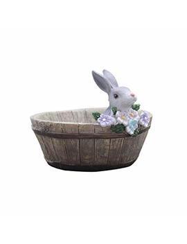 Hehen Cute Animal Shaped Creative Cartoon Home Decoration Succulent Flower Pots/Resin Plant Pot (Rabbits) by Hehen