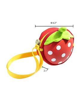 Kids Waterproof Small Purse Crossbody Sling Shoulder Phone Bag   3 D Strawberry by Just Nile
