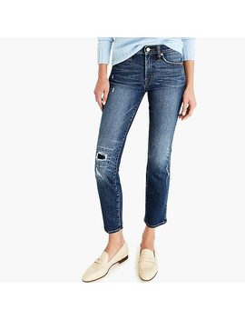 Petite Vintage Straight Jean In Rip And Repair by J.Crew