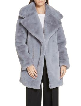Riley Faux Fur Coat by Milly