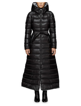 Calina Long Puffer Coat W/ Belt by Neiman Marcus