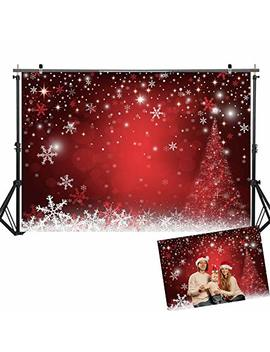 Allenjoy 7 X5ft Winter Red And Christmas Tree Background For Photography Snowflake Bokeh Photo Backdrop Studio Props Christmas Party Decorations by Allenjoy