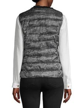 Fray Trimmed Tweed Vest by Karl Lagerfeld Paris