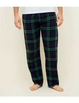 Green Check Pyjama Bottoms by New Look