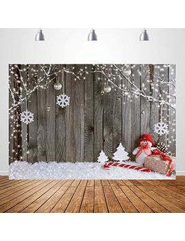 5x7ft White Wood Floor Photography Backdrops Winter Frozen Snow Background For Children Photo Studio Backdrop by Nextunit