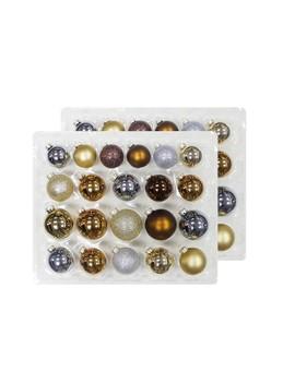 42ct Christmas Ornament Set Copper Grey Silver And Gold   Wondershop™ by Wondershop