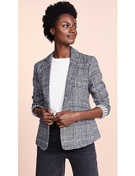 Bela Plaid Blazer by Cupcakes And Cashmere