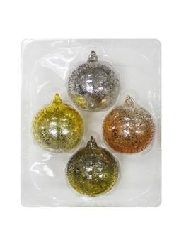 4ct Christmas Ornament Set Silver/Gold/Green   Wondershop™ by Wondershop