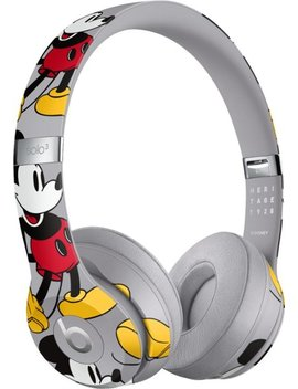 Beats Solo³ Wireless Headphones   Mickey's 90th Anniversary Edition   Gray by Beats By Dr. Dre