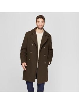 Men's Wool Blend Trench Coat   Goodfellow & Co™ Dark Green by Goodfellow & Co