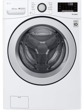 4.5 Cu. Ft. 10 Cycle Front Loading Smart Wi Fi Washer With 6 Motion Technology   White by Lg