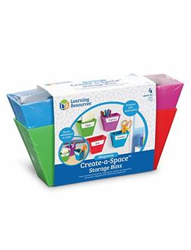 Learning Resources Create A Space Magnetic Storage Boxes, Bright Colors by Learning Resources