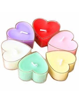 12 Pcs Da.Wa Heart Shaped Scented Candles Natural Fragrance Soy Wax Portable Travel Home Fragrance Tin Candle by Da.Wa