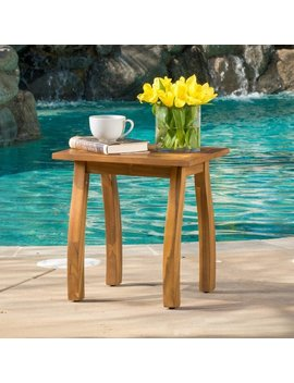 Lucca Outdoor Acacia Wood Side Table By Christopher Knight Home by Christopher Knight Home