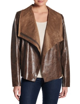 Faux Leather Moto Jacket by Coffee Shop
