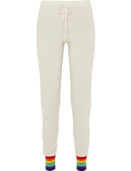 Sirius Striped Cashmere Track Pants by Madeleine Thompson