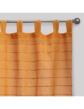 Amber Striped Sahaj Jute Tab Top Curtains, Set Of 2 by World Market