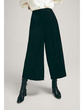 Im Culotte Fit    Stoffhose by Massimo Dutti