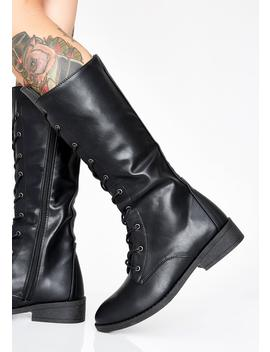 Baddest In Town Combat Boots by Weeboo