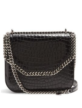Falabella Box Crocodile Effect Cross Body Bag by Stella Mc Cartney