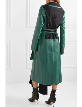 Oversized Paneled Leather Coat by Loewe