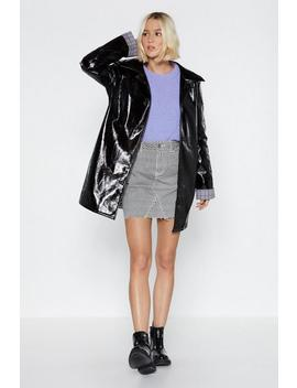 My Vinyl Collection Coat by Nasty Gal