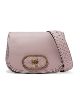 Luna Small Intrecciato Leather Shoulder Bag by Bottega Veneta