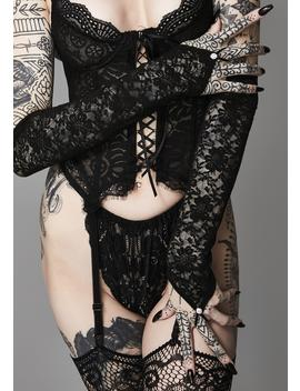 Corrupted Love Lace Gloves by Ana Accessories
