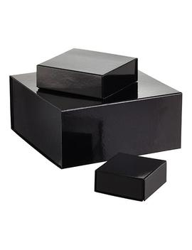 Glossy Black Collapsible Gift Boxes by Container Store