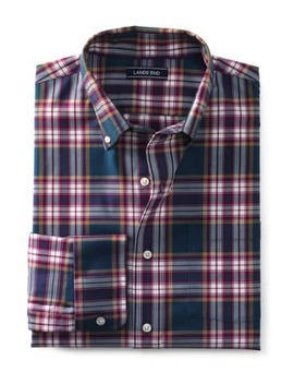 Men's Traditional Fit Comfort First No Iron Twill Shirt by Lands' End