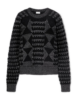 Jacquard Knit Sweater by Saint Laurent