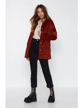 My New Favorite Corduroy Belted Jacket by Nasty Gal