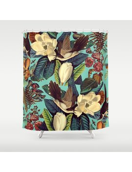 Floral And Birds Xxi Shower Curtain by