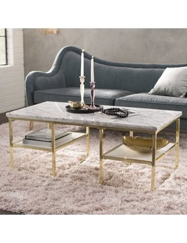 Mercer41 Isabelle Marble Coffee Table & Reviews by Mercer41