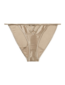 Stretch Silk Satin Briefs by Kiki De Montparnasse