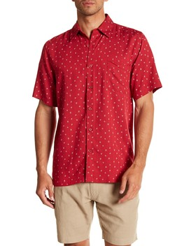 Short Sleeve Print Woven Shirt by Toscano
