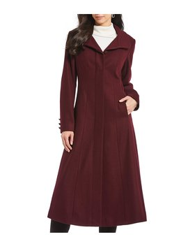 Fit And Flare Full Length Coat by Gallery
