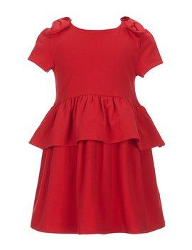 Little Girl 2   6 X Knit Peplum Dress by Kate Spade New York