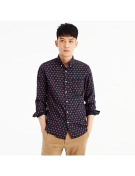 Slim Stretch Secret Wash Shirt In Navy Floral by J.Crew