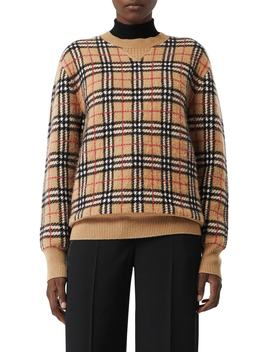 Banbury Check Cashmere Sweater by Burberry