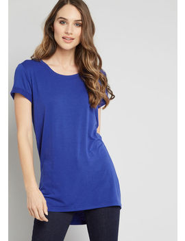 Simplicity On A Saturday Tunic In Sapphire by Modcloth